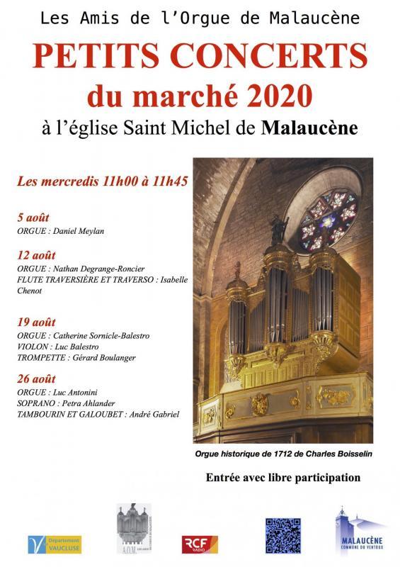 Concerts du marche 2020